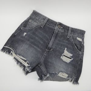 "Joe's ""The Bella"" gray high-rise jean shorts"